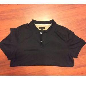 Men's Banana Republic SZ L Black Polo 100% Cotton
